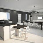 Projet Bimgas - vue cuisine et salon