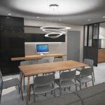 agencement maison - vue bureau et séjour